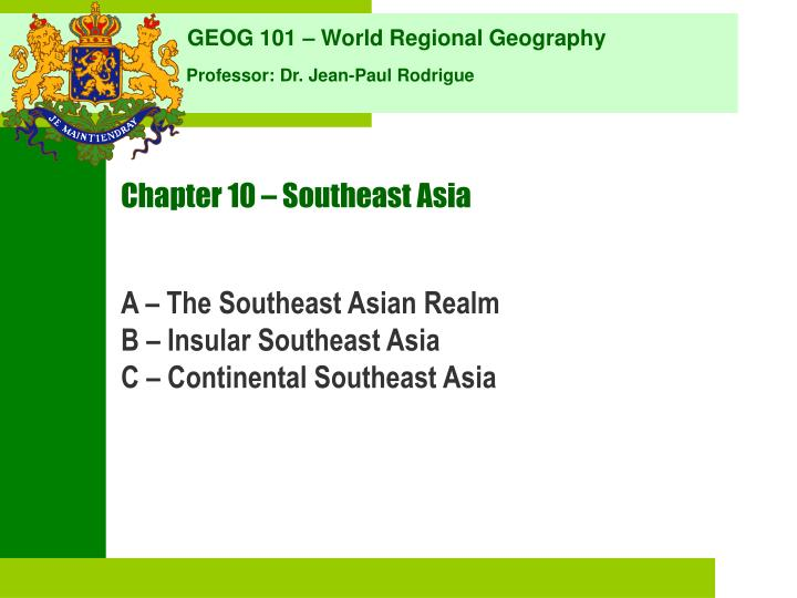 chapter 10 southeast asia n.