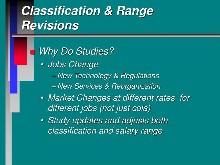Classification & Range Revisions