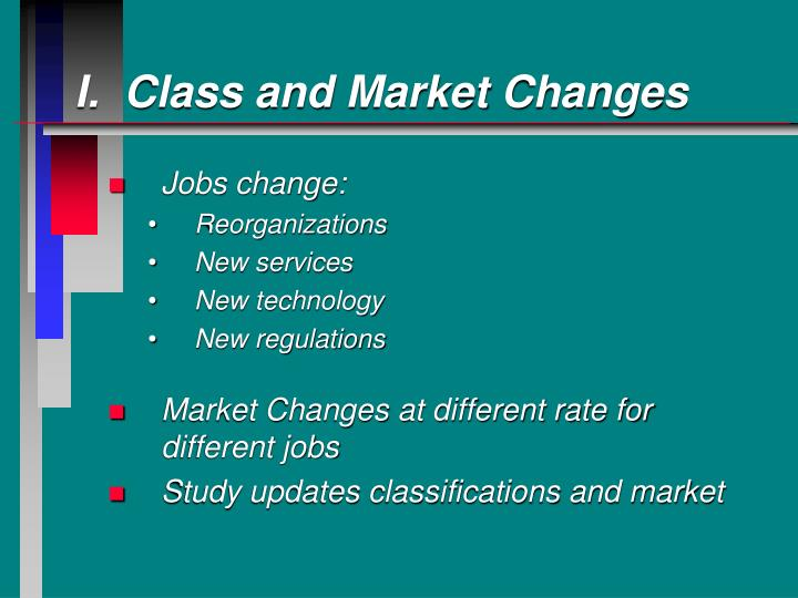 I.  Class and Market Changes
