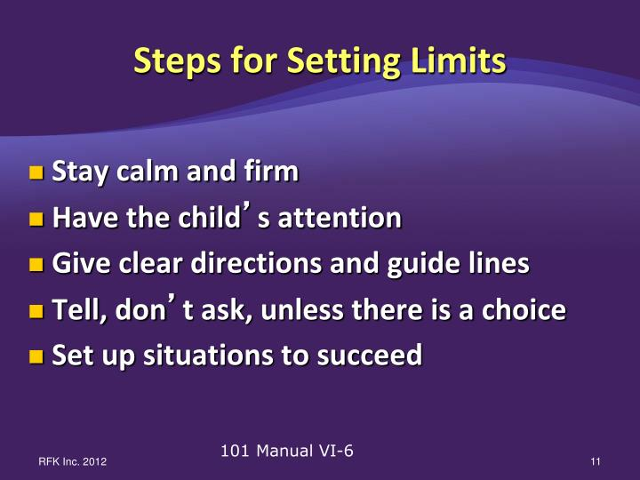 Steps for Setting Limits