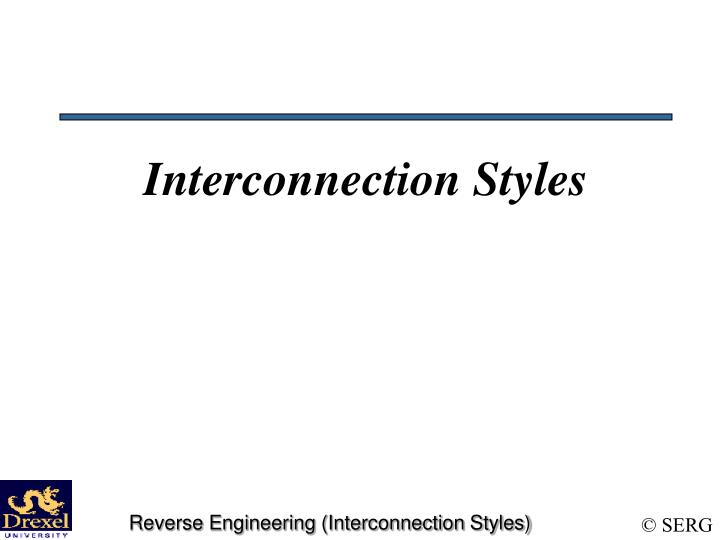 interconnection styles n.