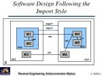 software design following the import style