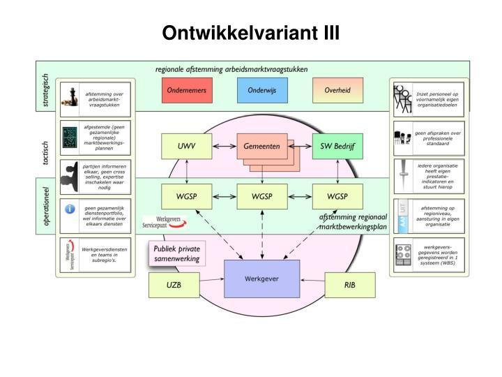 Ontwikkelvariant III