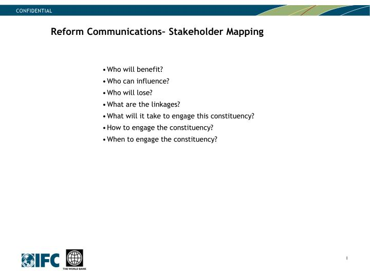 Reform Communications– Stakeholder Mapping
