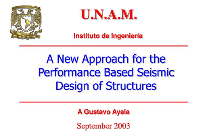 a new approach for the performance based seismic design of structures n.