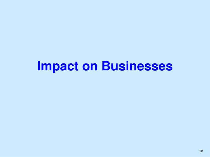 Impact on Businesses