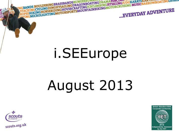 i seeurope august 2013