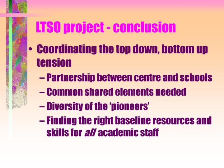 LTSO project - conclusion