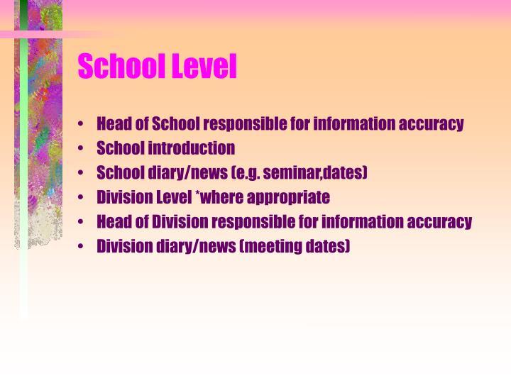 School Level