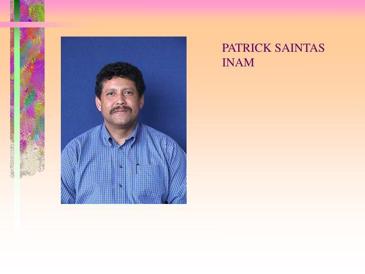 PATRICK SAINTAS