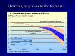 however large risks to the forecast
