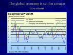 the global economy is set for a major downturn