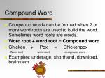 compound word