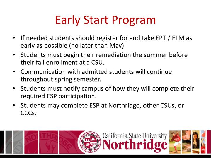 Early Start Program