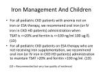 iron management and children