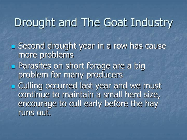 Drought and The Goat Industry