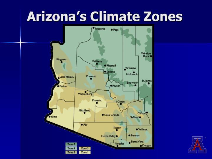 Arizona's Climate Zones