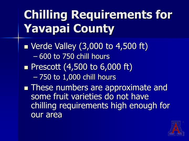 Chilling Requirements for Yavapai County
