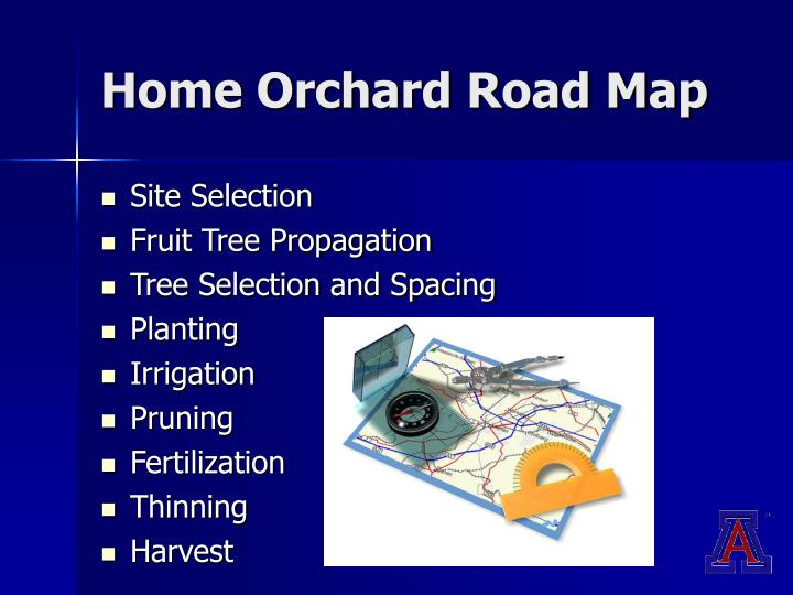 Home Orchard Road Map