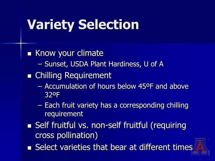 Variety Selection