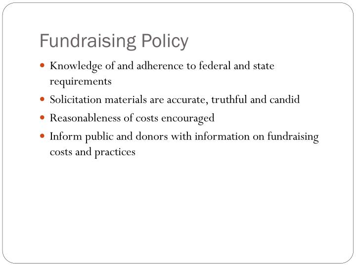 Fundraising Policy