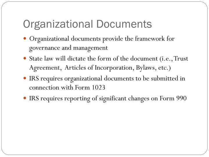 Organizational Documents