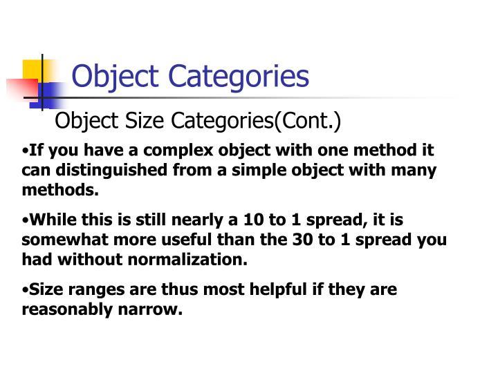 Object Categories