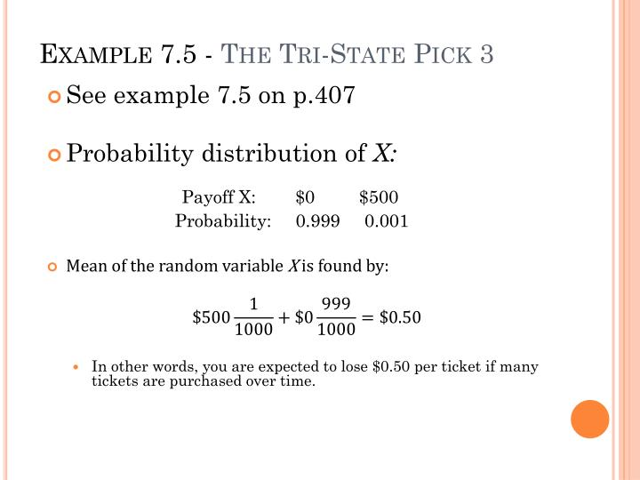 Example 7 5 the tri state pick 3