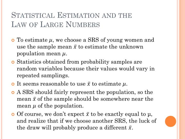 Statistical Estimation and the