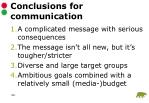 conclusions for communication1