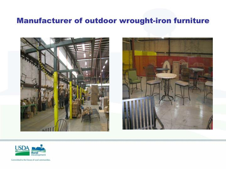 Manufacturer of outdoor wrought-iron furniture