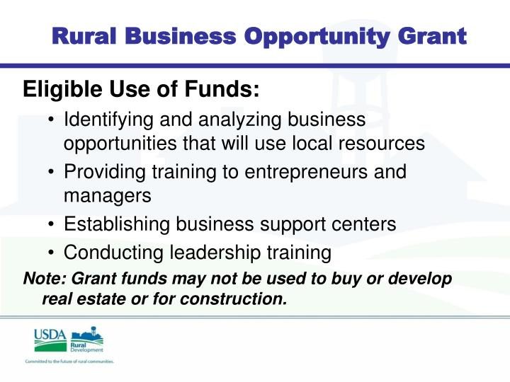 Rural Business Opportunity Grant
