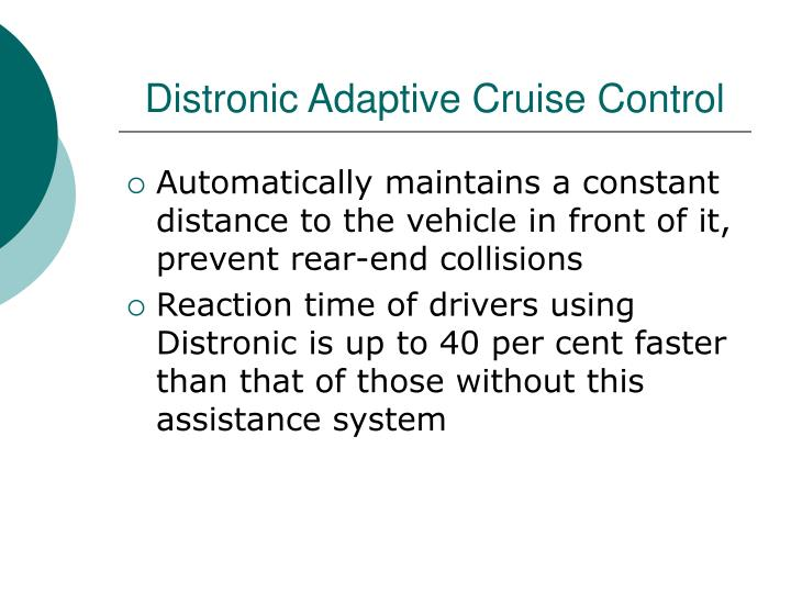 Distronic Adaptive Cruise Control
