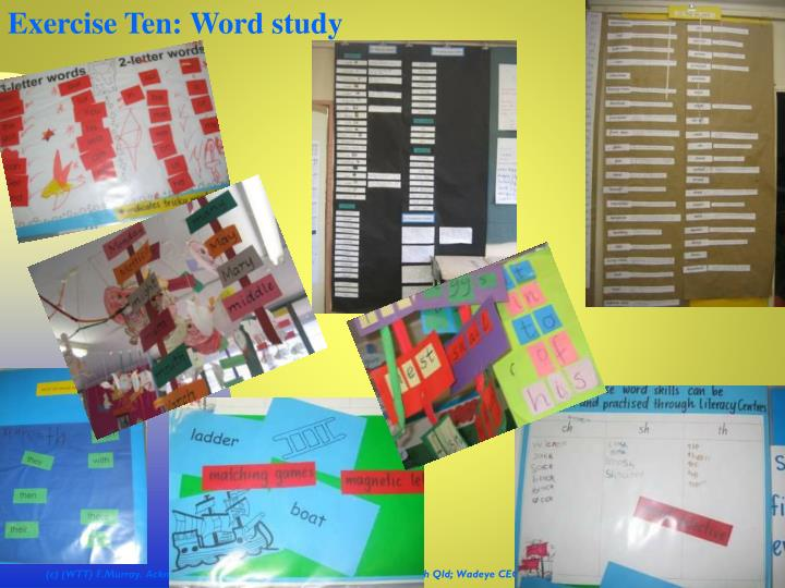 Exercise Ten: Word study
