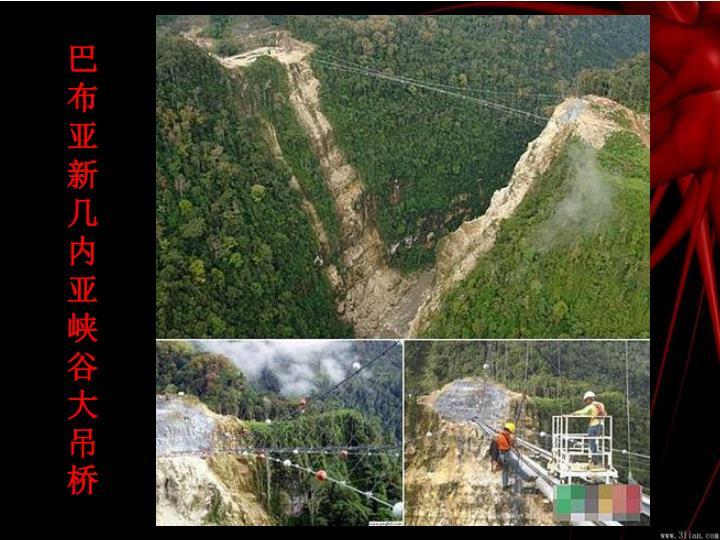 巴布亚新几内亚峡谷大吊桥