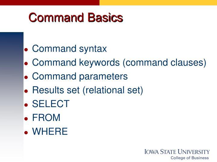 Command Basics