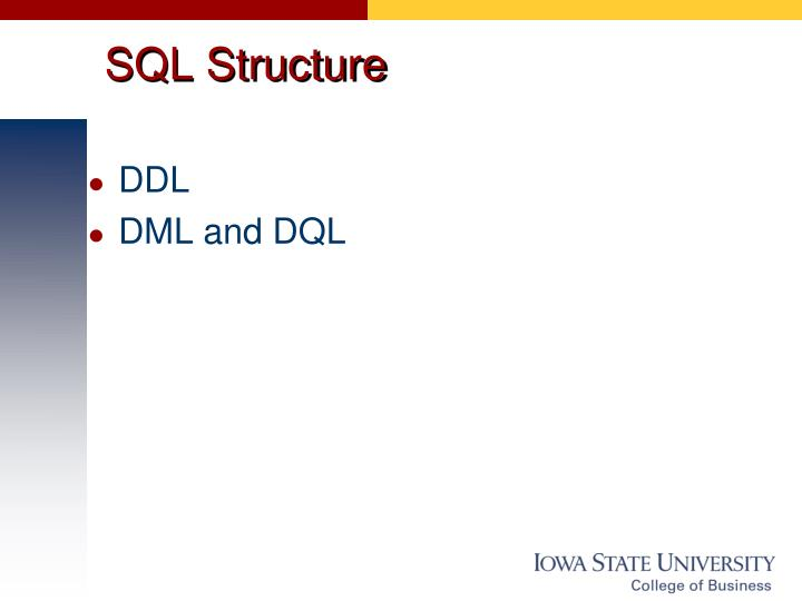 SQL Structure