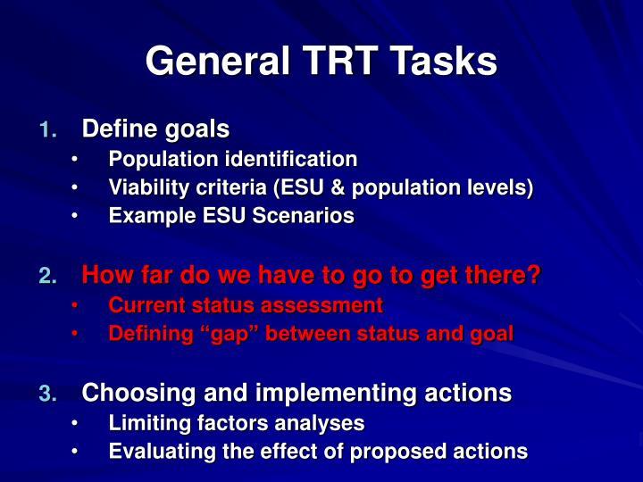 General trt tasks