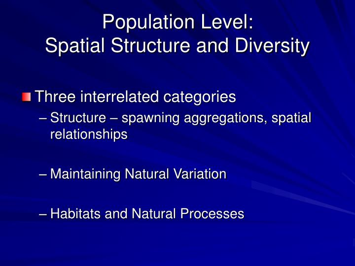 Population Level: