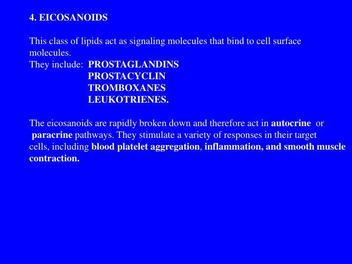 4. EICOSANOIDS
