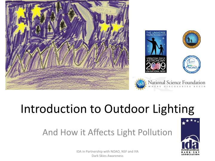 introduction to outdoor lighting n.