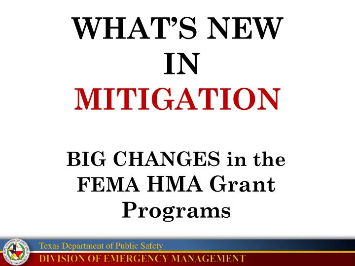 what s new in mitigation n.