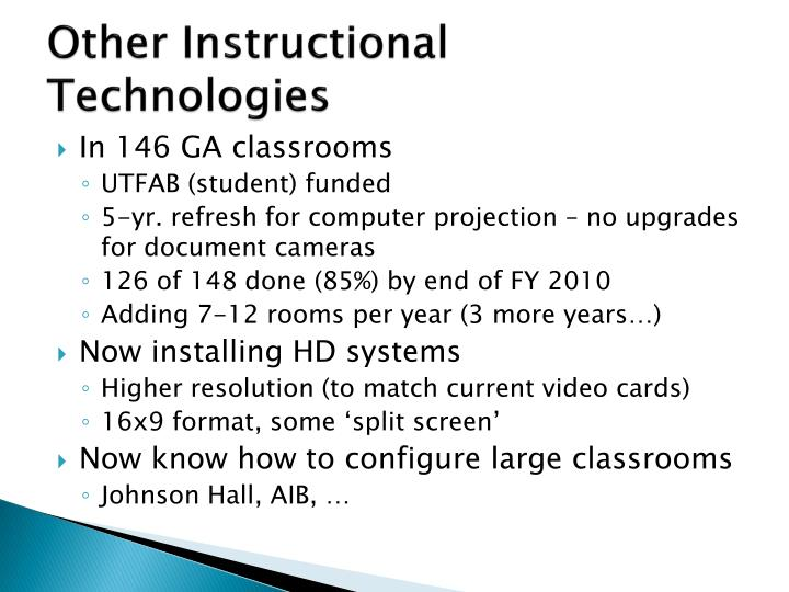 Other Instructional Technologies