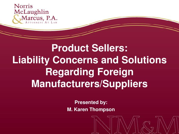 Product Sellers: