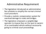 administrative requirement