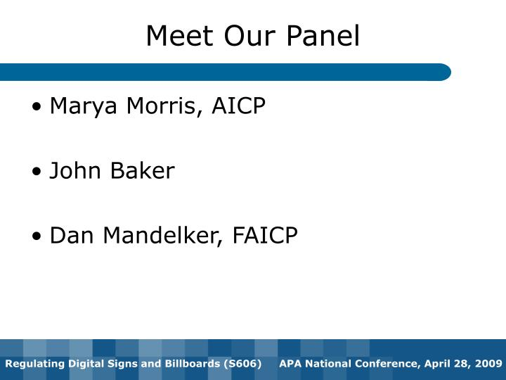 Meet our panel