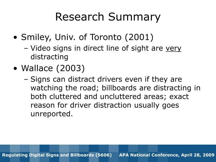 Smiley, Univ. of Toronto (2001)