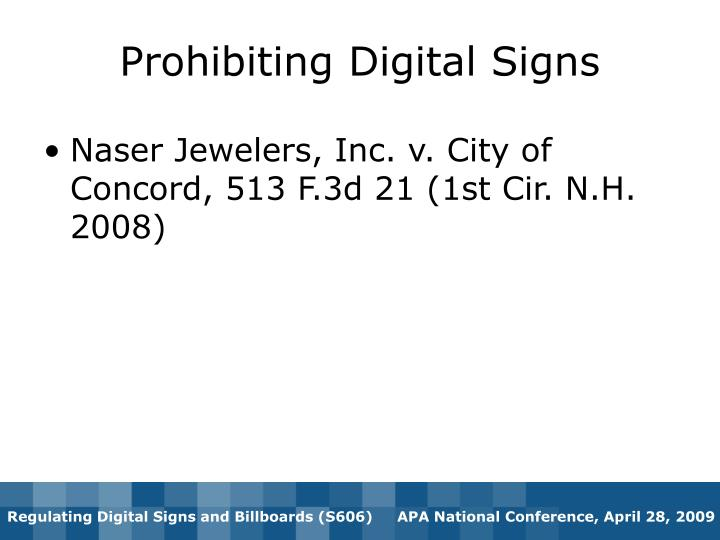 Prohibiting Digital Signs