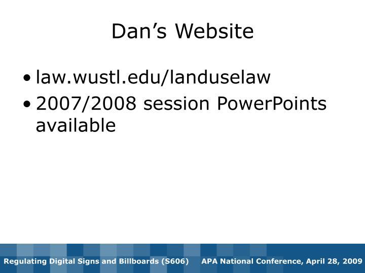 Dan's Website
