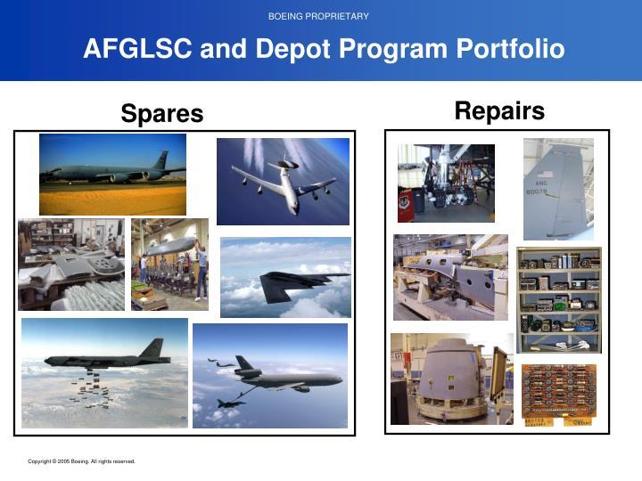 AFGLSC and Depot Program Portfolio